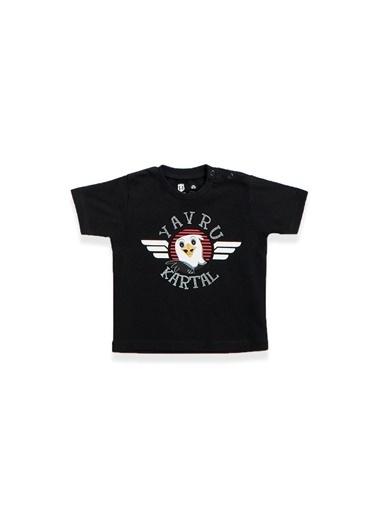 Beşiktaş Beşiktaş Lisanslı Bebek T-Shirt Şort 2'Li Takım Siyah Siyah